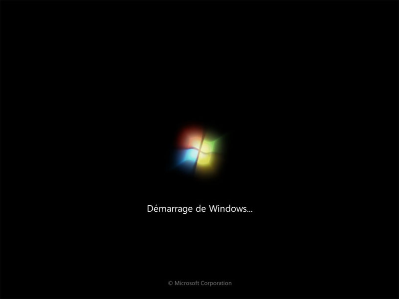 démarrage Windows 7
