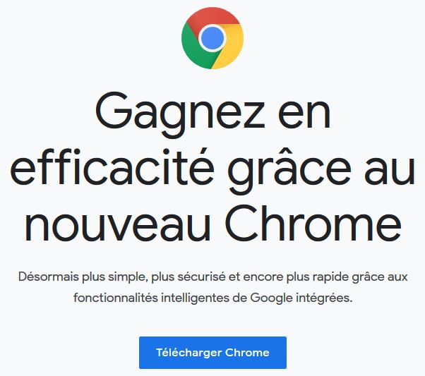 page de téléchargement google chrome
