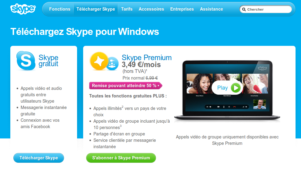 t l charger skype sur le bureau windows 8. Black Bedroom Furniture Sets. Home Design Ideas