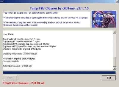 Fichier temporaire TFC