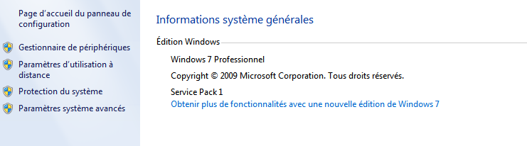 information version windows