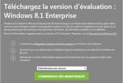 Téléchargez Windows 8.1 Entreprise version d'évaluation