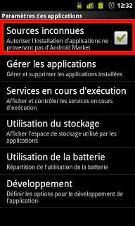 activer android sources inconnues
