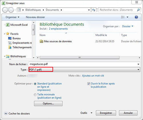 Comment Enregistrer Un Document Excel En PDF