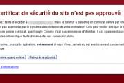 Comment résoudre le problème, Le certificat de sécurité du site n'est pas encore valide