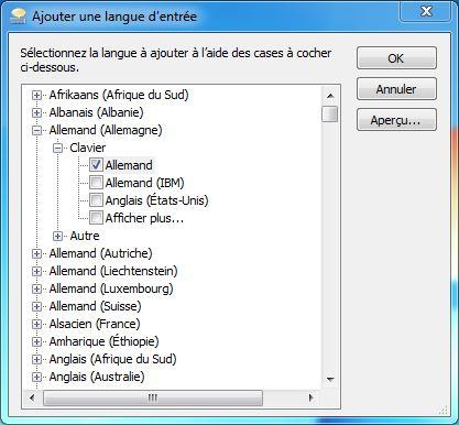 Ajouter une langue d'entree windows
