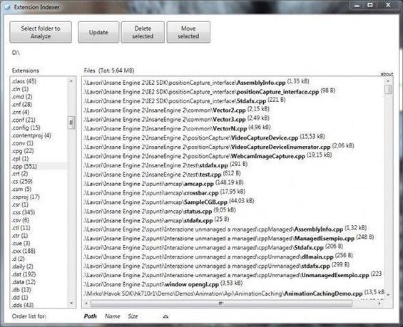 Trier les fichiers par extension