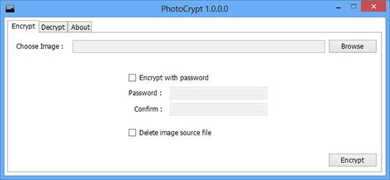cryptage des images par mot de passe