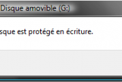 Réparer problème le disque est protégé en écriture