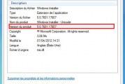 Comment savoir la version de windows installer