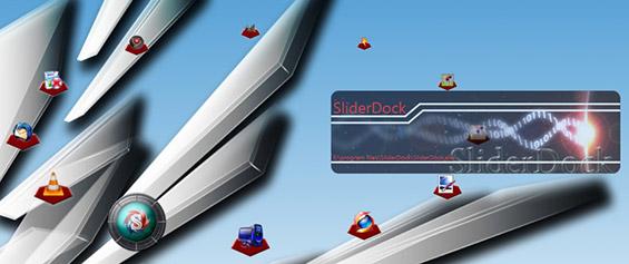 SliderDock : Lanceur d'applications windows 7