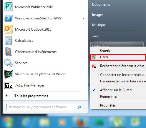 Cr er nouvelle partition windows 7 sans formatage for Ouvrir fenetre dos windows 7
