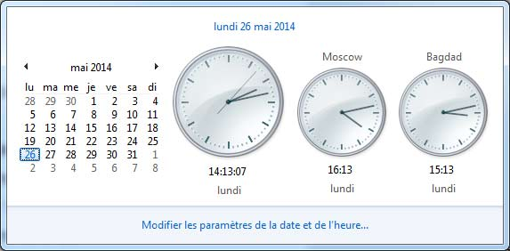 multi Horloge windows 7