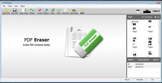 pdf eraser: Supprimer images, texte fichier PDF