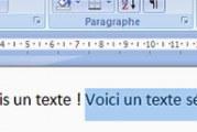 Sélectionner du texte dans word plus rapidement