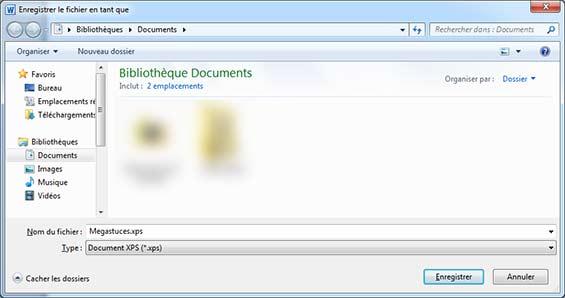 Comment créer un fichier xps