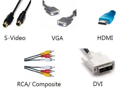 câbles de connexion ordinateur / téléviseurs