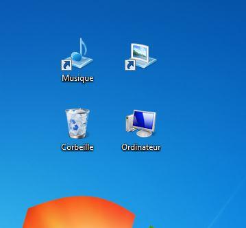 supprimer texte icônes Windows