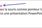 Utilisez la souris comme pointeur laser dans une présentation PowerPoint