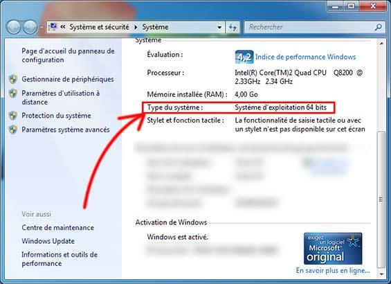 Mon ordinateur est 32 bits ou 64 bits ?