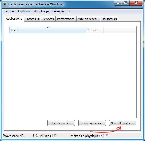 L 39 explorateur windows ne d marre pas for Fenetre explorateur windows 7
