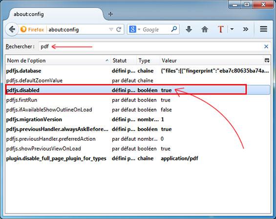 desactiver lecteur pdf firefox