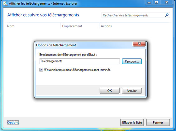 emplacement telechargement internet explorer