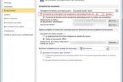 Enregistrement automatique d'un document word