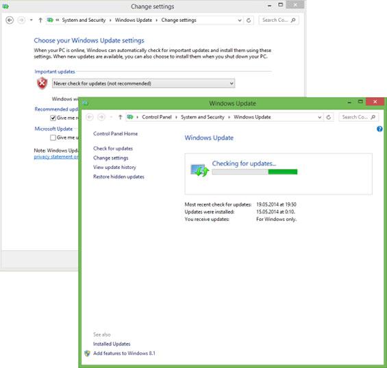 vérification des mise à jour windows