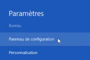 Comment accéder au panneau de configuration de windows 8
