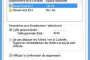 Comment modifier la taille de la corbeille de Windows 8