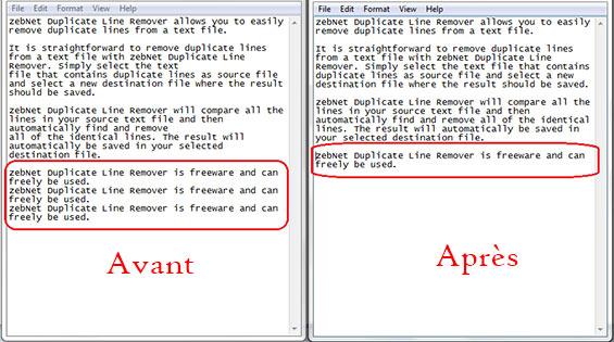 Supprimer lignes double dans un fichier texte
