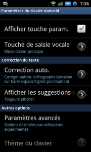 correction automatique sur android