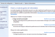 Plan de gestion d'energie windows 7