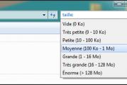 Rechercher des documents par taille / date dans Windows