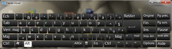 clavier visuel windows 7