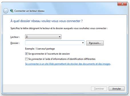 Comment accéder à un lecteur réseau sous windows