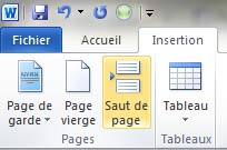 insertion saut de page