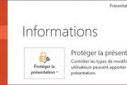 Comment protéger une présentation powerpoint 2013