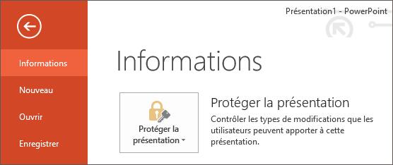 Menu information powerpoint 2013