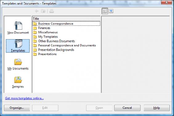 nouveaux modèles openOffice