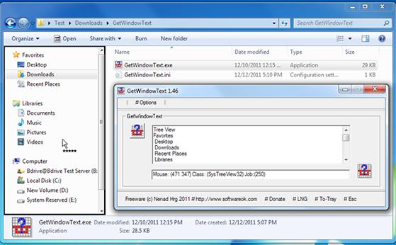 Copier le texte dans les fen tres ouvertes for Fenetre windows outils
