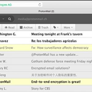 Envoyer et recevoir des e-mails cryptés avec protonmail