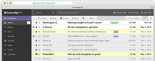 e-mails cryptés avec protonmail