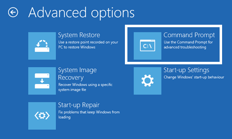 Invite de commandes dans Windows 10