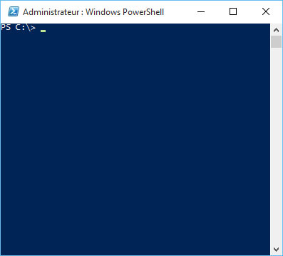 PowerShell élevé Windows 10
