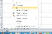 Renommez votre feuille dans Excel