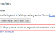 Désactiver la Traduction Automatique dans Google Chrome