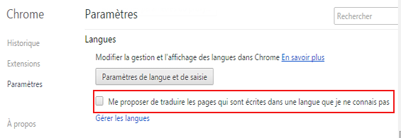 enlever traduction automatique chrome