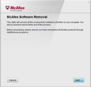 Outil de désinstallation des produits Mcafee